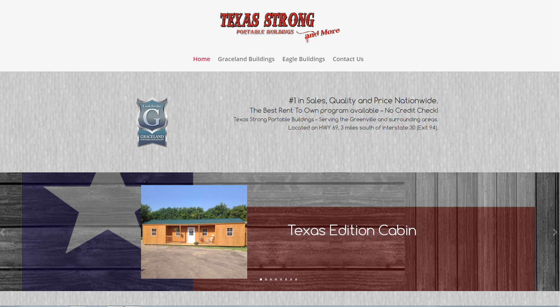 TX Strong Website