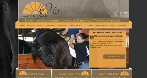 OTS Sunrise Farm website